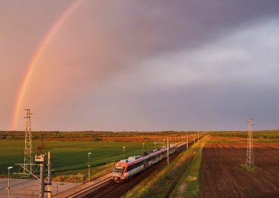 Електрификация и обновяване на ЖП линията в участък гр.Първомай